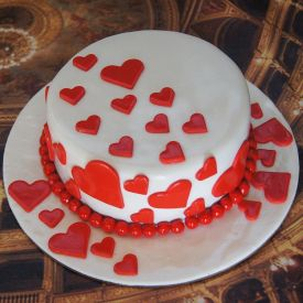 Valentine Special Heart Cake